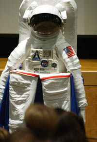 Astronaut's space suit