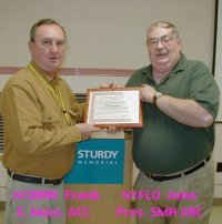 SMHARC 25 Year ARRL Affiliation presentation