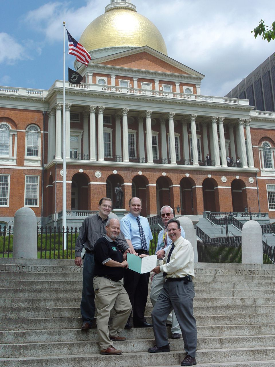 Mass. Amateur Radio Day Proclamation team