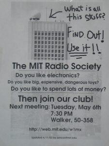 eye-catching MIT Radio Society flyer