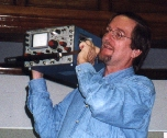K1OJH actioning off oscilloscope