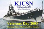 K1USN Veterans Day QSL card