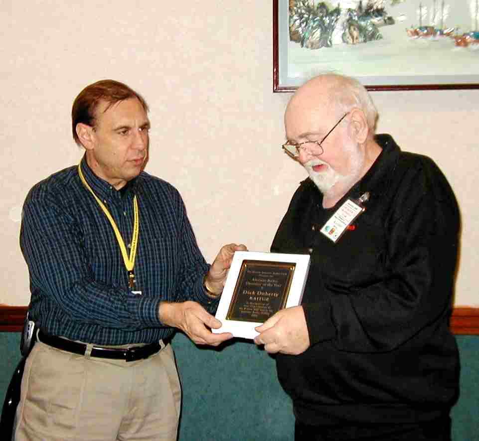 KA1TUZ presented BARC Ham of the Year award