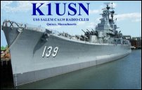 USS Salem ARC QSL card