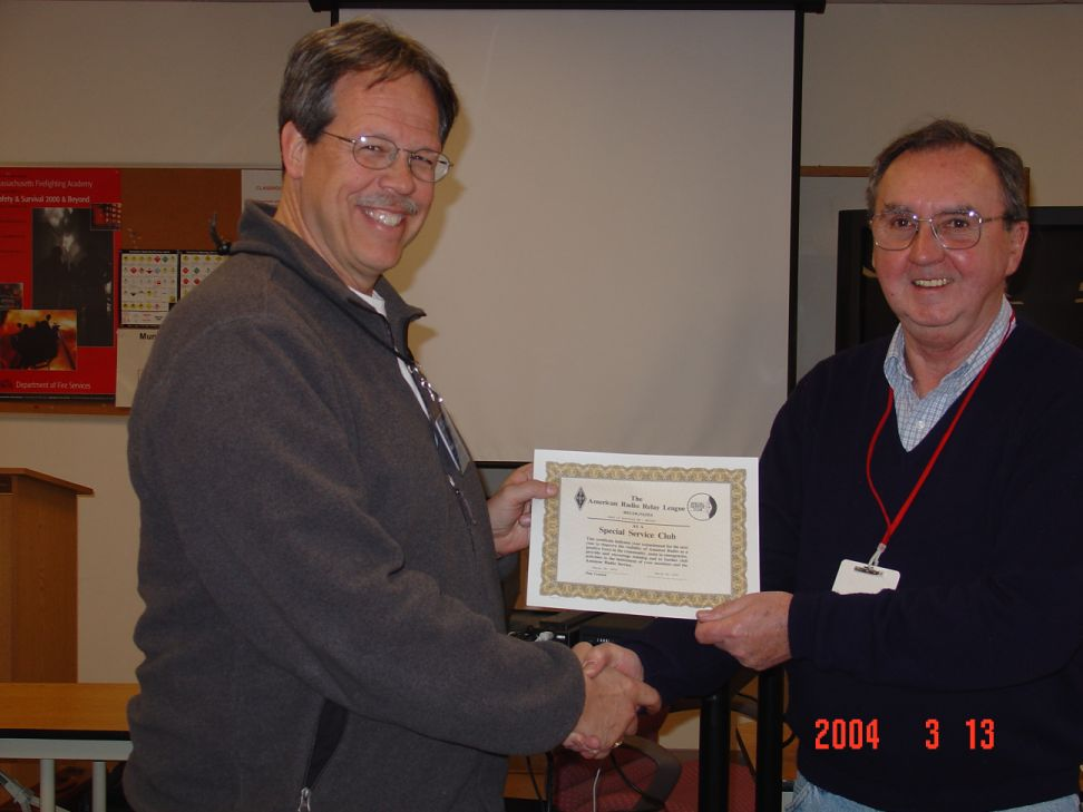 SSC certificate award to PART at CEMARC meeting