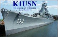 USS Salem RC QSL card