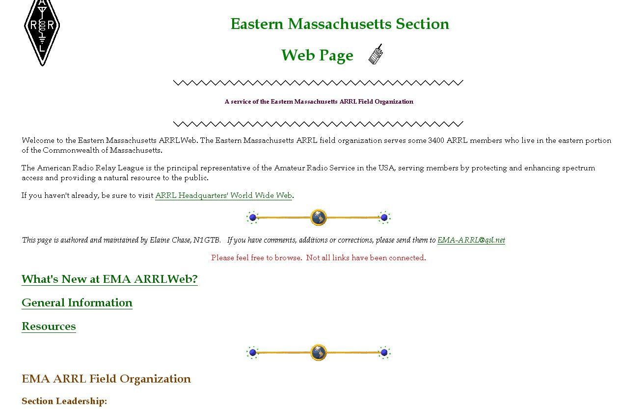 EMA ARRL web site, circa 1998