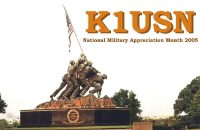 K1USN Military Appreciation Month QSL card