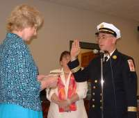 KB1EKN sworn in as fire chief