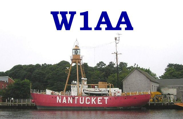 W1AA/ Nantucket QSL card