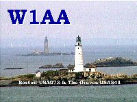 W1AA/ Boston and Graves Lighthouse QSL card