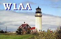 W1AA/  Highland Light QSL card