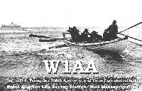 W1AA QSL, Point Allerton/whale boat