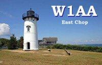 W1AA/  East Chop QSL card
