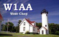 W1AA/  West Chop QSL card