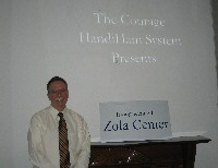 Phil Temples, K9HI, presents about the Handiham System at Zola Center