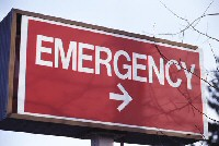 hospital emergency room sign