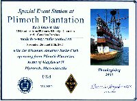 Plimoth Plantation special event operation summary 2005