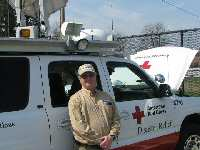 N1UEC posted next to Red Cross Mobile EOC/van, photo 2