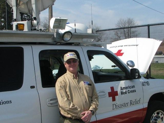 N1UEC posted next to Red Cross Mobile EOC, photo 2