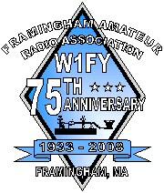 Framingham ARA 75th anniversary logo