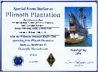 Plimoth Plantation 2008 certificate