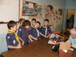 Cub Scouts at W1FY shack, Oct. 2011