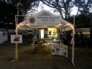 NN1MF booth at the Marshfield Fair, 2016