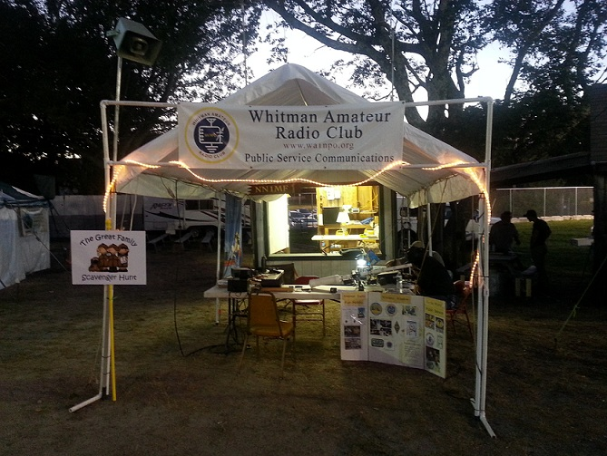 NN1MF booth at Marshfield Fair, 2016