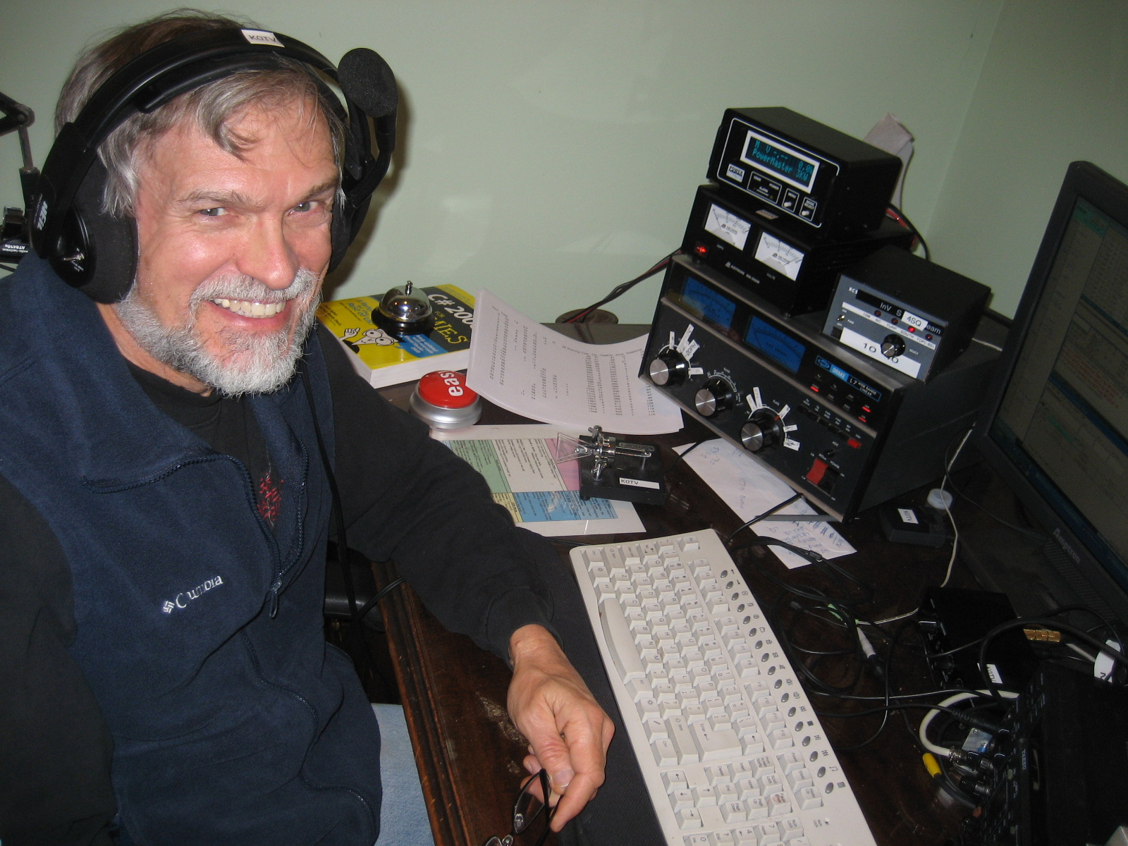 Photo of a contest operator at the former K0TV contest station