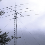 photo of Northeastern Wireless Club tower and beam antenna