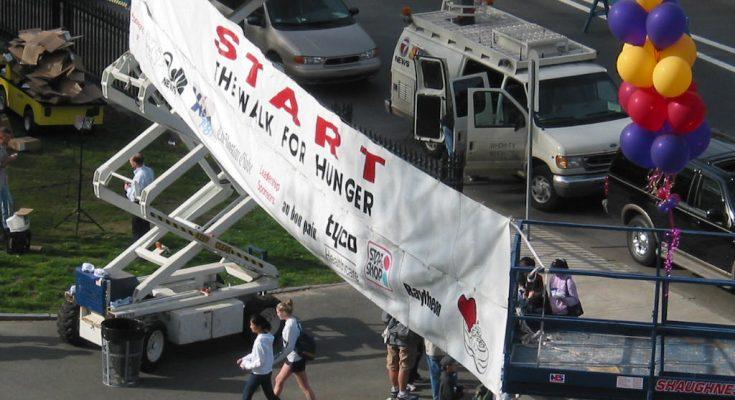 photo of Start line, Walk for Hunger