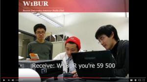 W1BUR radio contact