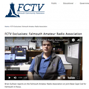 screenshot of Falmouth Community Access TV show featuring ham radio