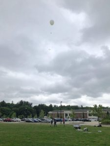 Natick HS High Altitude Balloon tethered test