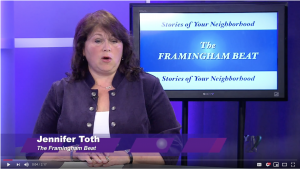 "Screenshot of ""Framingham Beat"" featuring story about FARA Field Day"