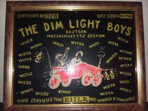 Dim Light Boys plaque