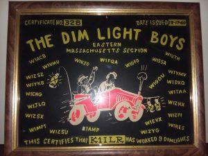 Dim Light Boys plaque