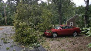 Storm damage in Harwich, MA