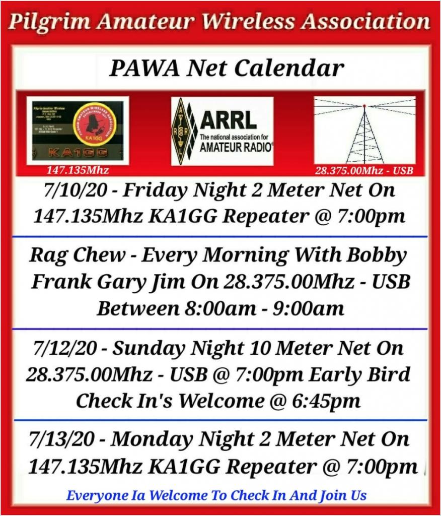 PAWA Activities July 2020
