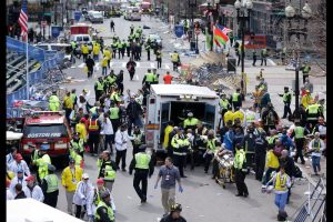 Scene from Boston Marathon bombing