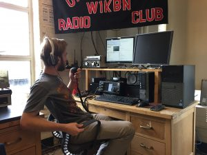 photo of W1KBN shack, Northeastern Univ. Wireless Club
