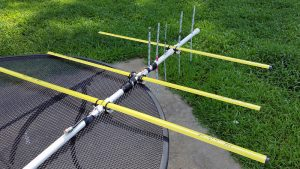 radio direction finding antenna on outdoor table