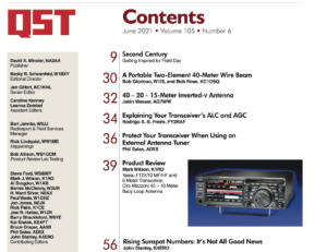 June 2021 QST Table of Contents snippet