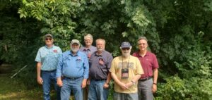 """photo of """"red badge"""" officials in attendance at the NTS Traffic Handlers Picnic on August 1, 2021 in Concord MA"""